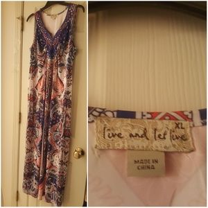 XL Live and Let Live dress